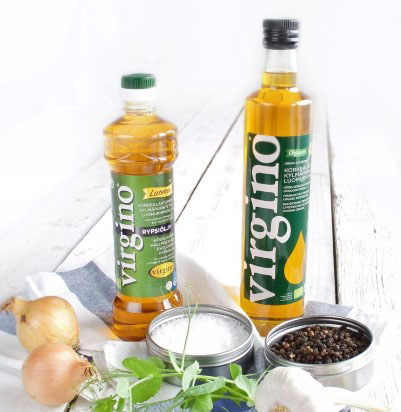 Premium cold-pressed Organic Virgino rapeseed oil