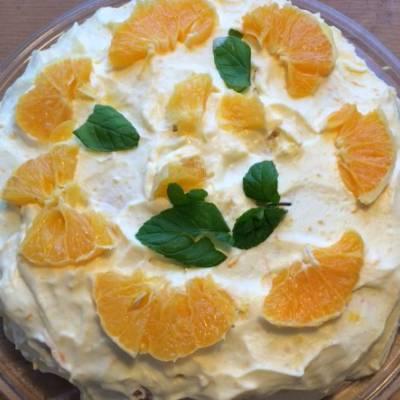 Rahka-appelsiinikakku