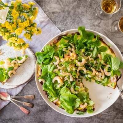 Katkarapu-salaattipiirakka