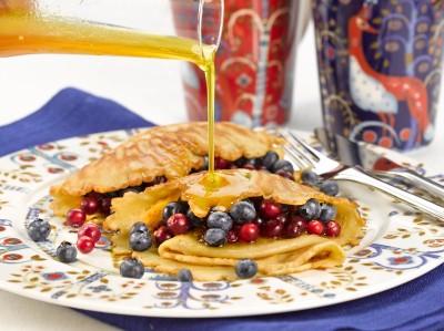Letut kauden marjoilla ja hunajakastikkeella